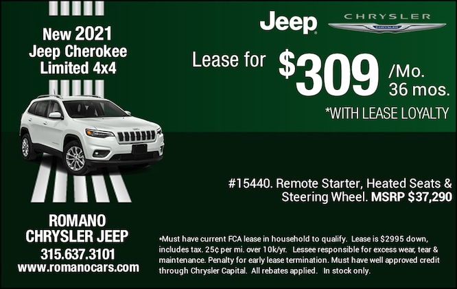 New 2021 Jeep Cherokee Limited Leases