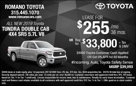 New 2019 Toyota Tundra SR5 5.7L V8 Double Cab Leases
