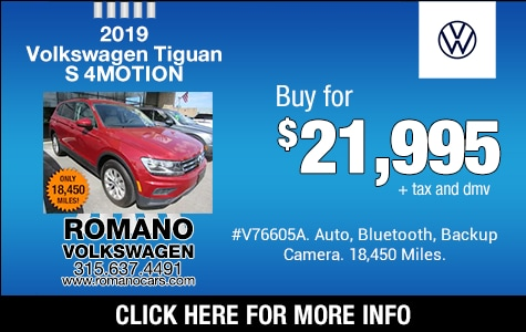 Used 2019 VW Tiguan S 4MOTION