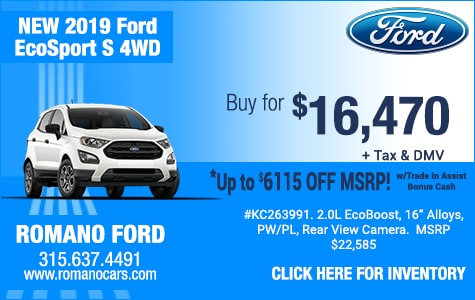 New 2019 Ford EcoSport