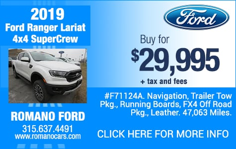 Used 2019 Ford Ranger Lariat