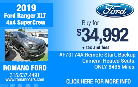 Used 2019 Ford Ranger XLT SuperCrew