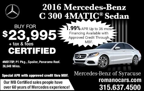 Pre-Owned 2016 Mercedes C 300 4MATIC Sedan