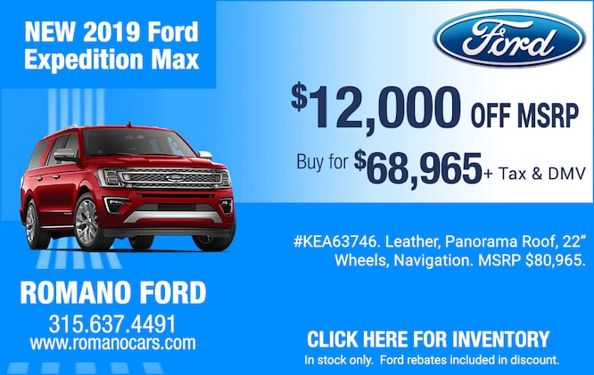 $12,000 Off MSRP on New 2019 Ford Expeditions