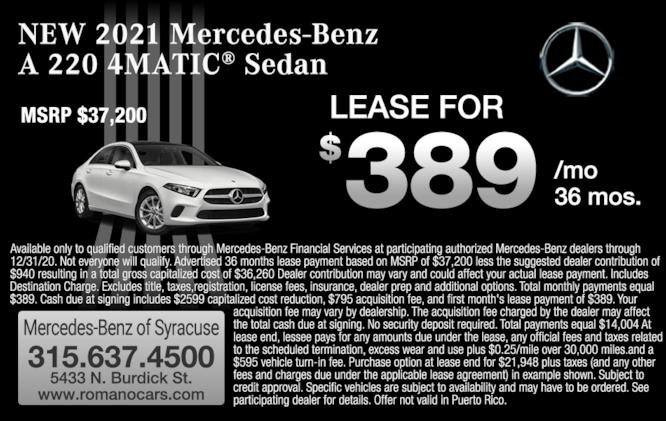 New 2021 Mercedes-Benz A 220 4MATIC Sedan