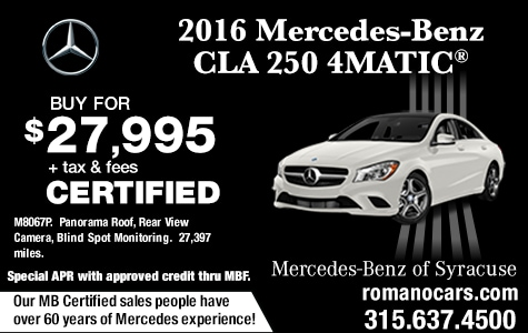 Certified 2016 Mercedes CLA 250 4MATIC Coupe