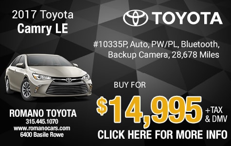 Used 2017 Toyota Camry LE