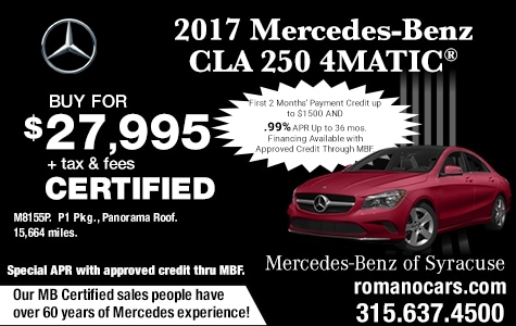 Mercedes Certified 2017 CLA 250 4MATIC Coupe