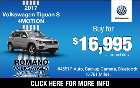 Used 2017 VW Tiguan S 4MOTION