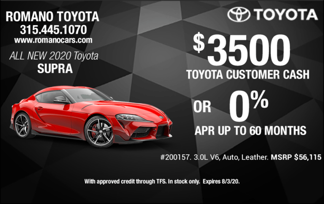 Special Offers on New 2020 Toyota Supras