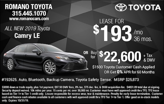 Lease Specials Near Me >> New Toyota Camry Deals Specials Near Me In Syracuse Ny