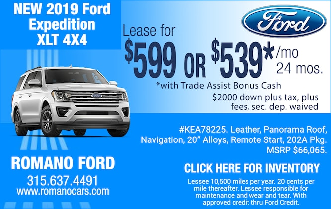 19 Ford Expedition XLT Leases