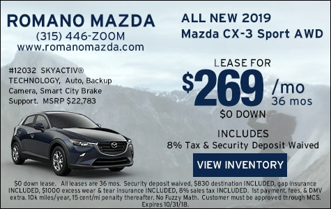 New 2019 Mazda CX 3 Sport AWD Leases