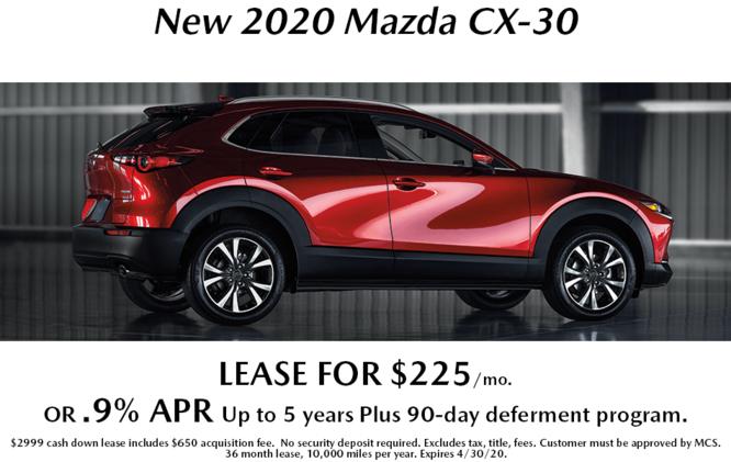 New 2020 Mazda CX-30 Lease
