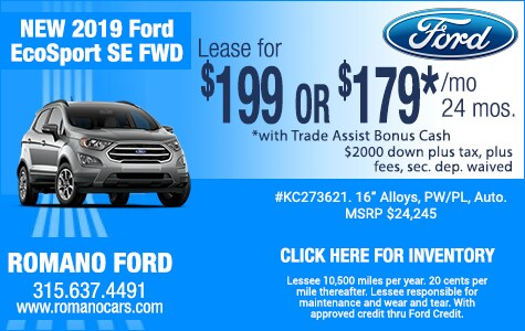 New 2019 Ford EcoSport Leases