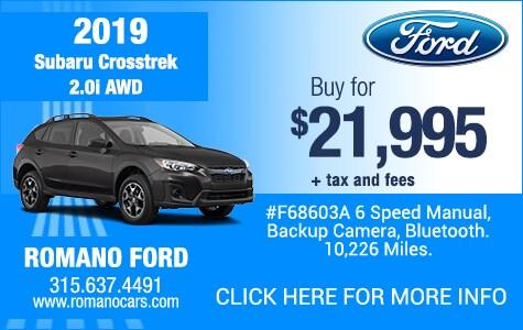 Used 2019 Subaru Crosstrek 2.0i AWD