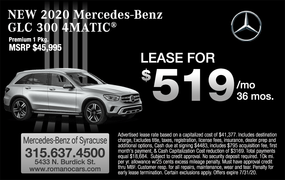 New 2020 Mercedes GLC 300 4MATIC Leases