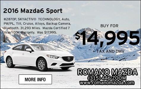 Mazda Certified 2016 Mazda6 Sport Sedan for Sale