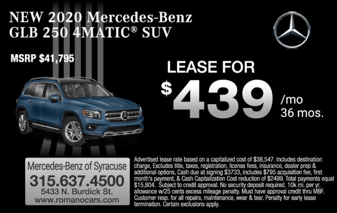 New 2020 Mercedes GLB 250 4MATIC SUV