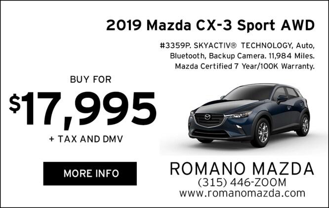 Certified 2019 Mazda CX-3 Sport