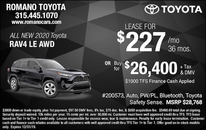 New 2020 Toyota Rav4 LE