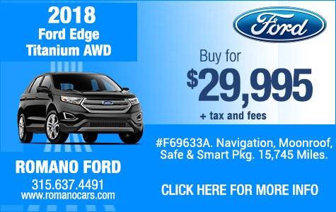 Used 2018 Ford Edge Titanium AWD