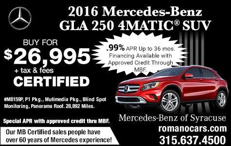 Mercedes-Benz Certified 2016 GLA 250 4MATIC SUV