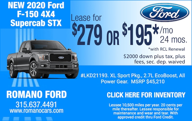 2020 F-150 4x4 STX SuperCab Leases