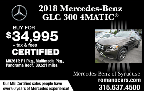 Mercedes Certified 2018 GLC 300 SUV