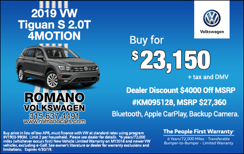 New 2019 VW Tiguan Specials
