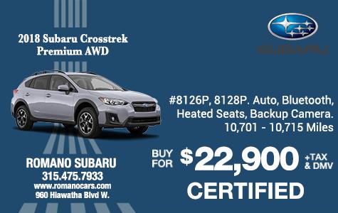 Subaru Certified 2018 Crosstrek Premiums