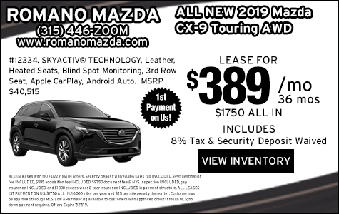 New 2019 Mazda CX-9 Touring Leases