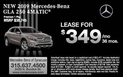 New 2019 Mercedes-Benz GLA 300 4MATIC SUV Leases