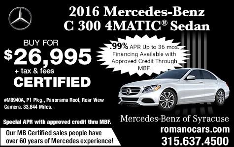 Mercedes-Benz Certified 2016 C 300 Sedan