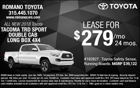 New 2018 Tacoma TRD Sport Double Cab Long Box 4x4 Leases