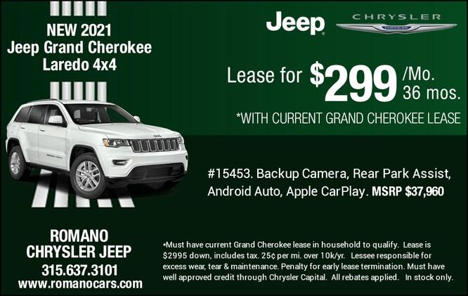 New 2021 Jeep Grand Cherokee Laredo 4x4