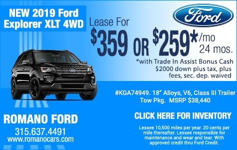 New 2019 Ford Explorer XLT Leases