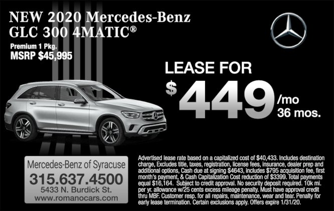 Lease Specials Near Me >> New Mercedes Benz Lease Specials Near Me Syracuse Ny