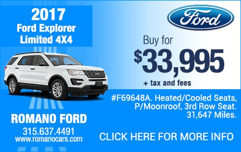 Used 2017 Ford Explorer Limited 4x4