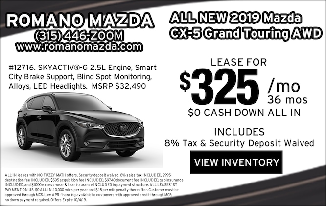 New 2019 Mazda CX-5 Grand Touring AWD Leases