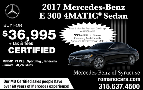 Mercedes Certified 2017 E 300 4MATIC Sedan