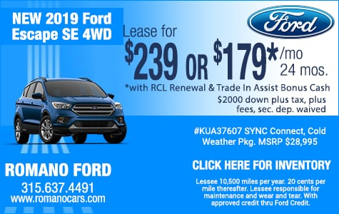 New 2019 Ford Escape SE Leases