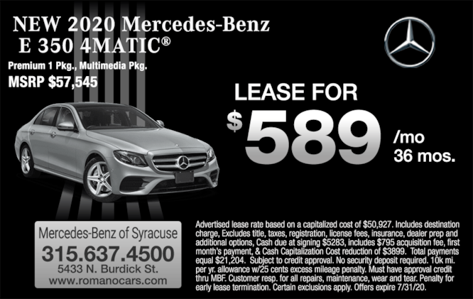 2020 Mercedes-Benz E 350 4MATIC Sedan Lease