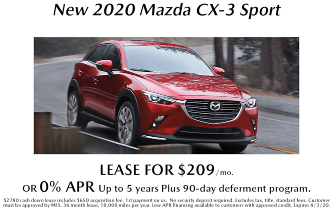 New 2020 Mazda CX-3 Special APR