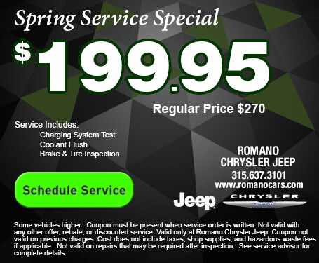 Chrysler Jeep Spring Service Special
