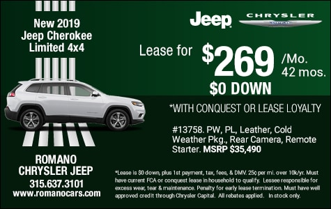 New 2019 Jeep Cherokee Limited Leases