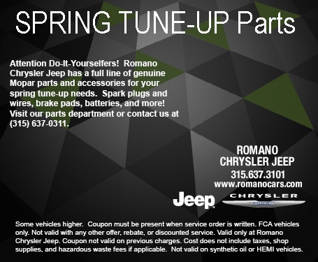 Mopar Tune-Up Parts and Spring Car Accessories at Romano  Chrysler Jeep Serving Syracuse