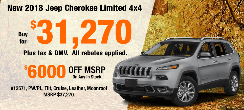 New 2018 Jeep Cherokee Specials
