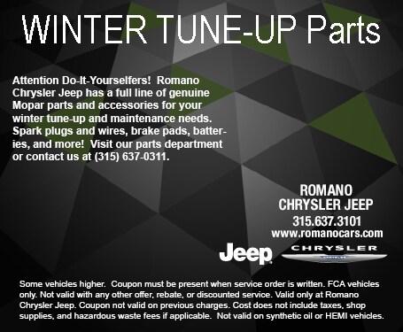 Mopar Winter Parts at Romano Chrysler Jeep