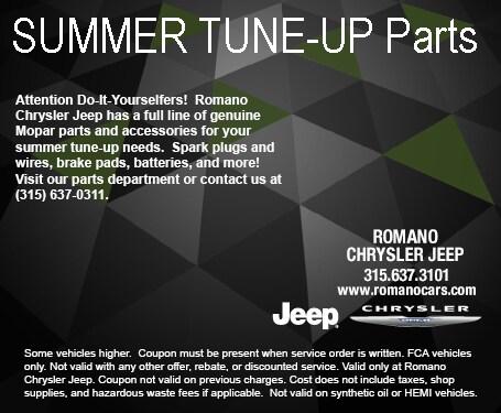 Mopar Summer Parts at Romano Chrysler Jeep